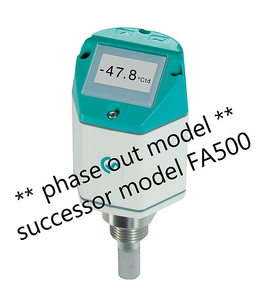 FA 400 - Dew point sensor with integrated display and alarm relay