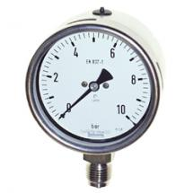 Bourdon tube pressure gauge, high quality design