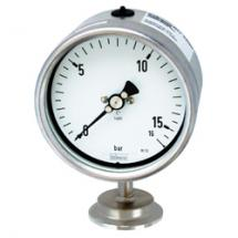 Bourdon tube pressure gauge for diaphragm seals
